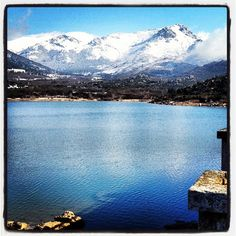 Navacerrada Mountains and Lake