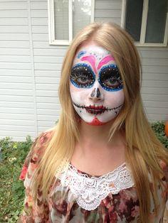 Dia De Los Muertos Face Paint for Halloween