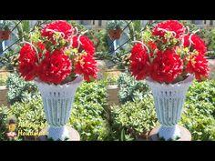Paper flower vase tutorial , home decoration idea | 3d origami vase v21 tutorial - YouTube