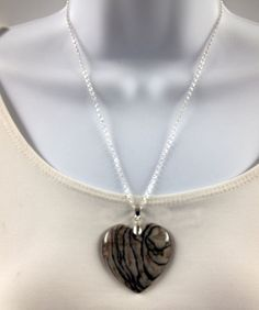 Jasper pendant  Jasper necklace  Jasper heart by UniquelyArdath, $42.00