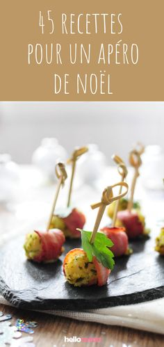 45 recipes for the Christmas aperitif - Apéros - Buffet, French Food, Kitchen Recipes, Original Recipe, Food Design, Food Art, Entrees, Tapas, Food To Make