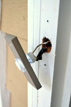 How to move and replace a doorbell.