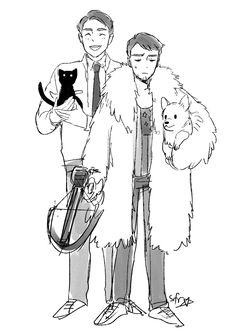 """starfleetrambo: """"I just plowed through dirk gently's holistic detective agency so here's a quick doodle """""""