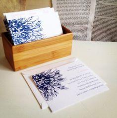Dahlia Bridal Shower Invitation and Recipe Box set