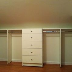 Storage & Closets angled ceiling Design Ideas, Pictures, Remodel and Decor