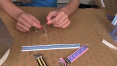 Key Fob Project:  How to make a cute gift using your Supply Sack and Pro...