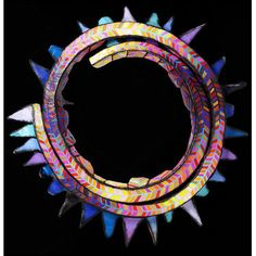 Neckpiece - 'Ring of Fire' by Marjorie Schick.