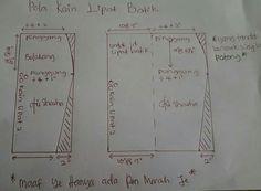Pola kain lipat batik