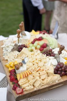 Cheese and Fruit Display  #gourmetbaycatering