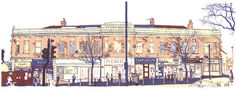 Chapeltown Road, screenprint by Simon Lewis