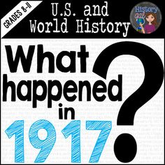 As a fun twist on a 100 days lesson and activity, take your students back 100 years to the year 1917 with this PowerPoint Presentation. The presentation covers events in the United States and the world. Each slide contains links to videos, primary sources, and more about the various events. Now with this fun resources your 8th, 9th, 10th, 11th, and 12th grade classroom or homeschool students can enjoy the 100th day of school!!
