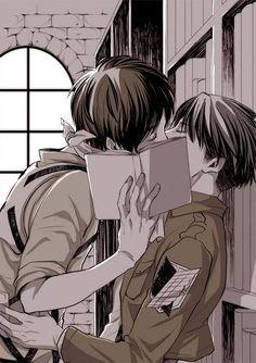 Eren x Levi | Shingeki no Kyojin #anime #yaoi
