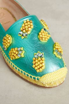 Shop the Castaner Beaded Pineapple Espadrilles and more Anthropologie at Anthropologie today. Read customer reviews, discover product details and more. Shoes Ads, Expensive Shoes, Embellished Shoes, Sky High, Diy Craft Projects, Crafts, Mom Style, Summer Shoes, Dress Brands