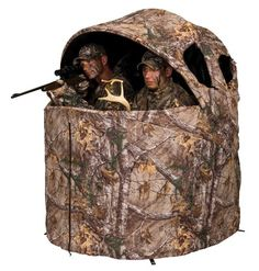 b2f4e0dbe9921 Deluxe Tent Chair Blind in Realtree- 2 man tent chair blind- Real Tree Xtra  camo pattern- Large front and side zippered windows- Backpack carrying case  for ...