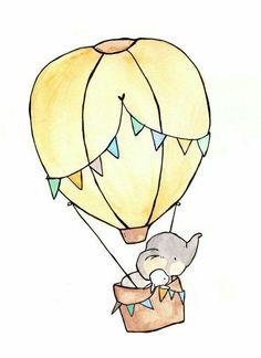 Hot air ballon for wall decor
