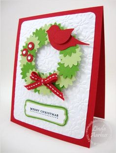 cute Christmas wreath. To visit the website, you must be a member of Stampin' Connection, though. :-(  (Dec'12)