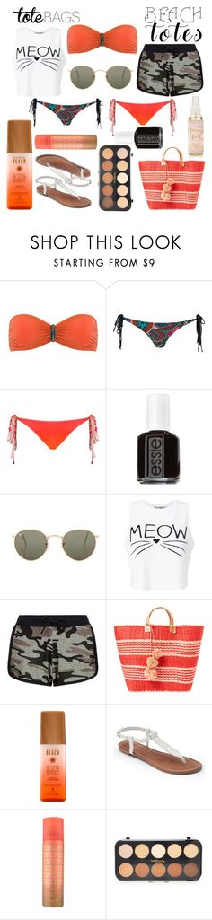 """""""La mais bela"""" by hemyhathaway ❤ liked on Polyvore featuring Caia, Amir Slama, Essie, Ray-Ban, Miss Selfridge, New Look, Mar y Sol, Apt. 9, Forever 21 and beachtotes"""