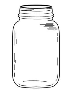 It's just a picture of Transformative Mason Jar Cut Out Template
