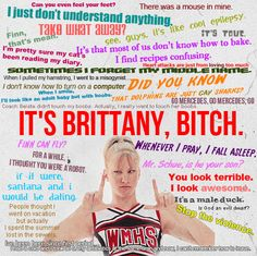 Montage Of Glee's Brittany via Quotes