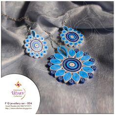 Nakshatra Utsav Collection: NUC_paper quilling_jewellery set_004   #allpropose #fashion #gift #jewellery #paperart #paperquilling #paperquillingjewelleryset #pendant  #womenaccessories
