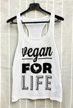 Vegan For Life tank top