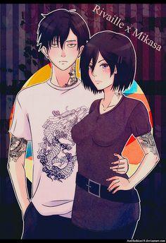 Mikasa and Levi // AoT