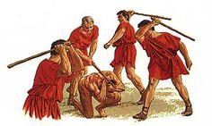 """In the military of ancient Rome, fustuarium  or fustuarium supplicium (""""the punishment of cudgeling"""") was a severe form of military discipline in which a soldier was cudgeled to death."""