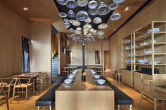 Chinese heritage symbols like porcelain bowls and chopsticks to add a touch of nostalgia to an otherwise modern restaurant in Ningbo, China. In the last couple of years, some of the coolest restaurants around have opened up in China – look at...