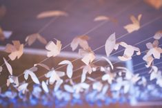 Anthropologie Inspired Paper Flower Garland: