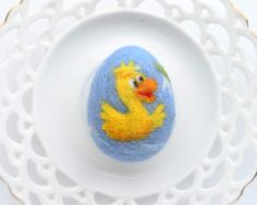 Felted Easter Egg Easter Eggs Ornaments Handmade Wool by WoolPaw