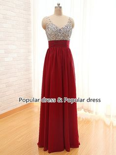 Burgundy Prom DressBurgundy Long Prom Dress custom by populardress