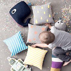 Neon Cushion by ferm LIVING mom's choice☆世界モノカタログ! | 春のお部屋の模様替え!北欧ブランドのインテリア雑貨入荷!