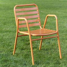 Fauteuil de Jardin Empilable Retro -structure aluminium. Assise galbé pour un confort à toute epreuve.Tous temps et emplilables ces fauteuils de jardin vous permettent un gain de place pour le rangement. Dm. : 52 x 59 x 43/77 cm