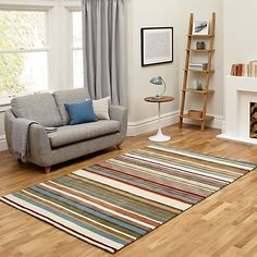 Buy John Lewis Multi Stripe Rug, L300 x W200cm, Spirit Online at johnlewis.com