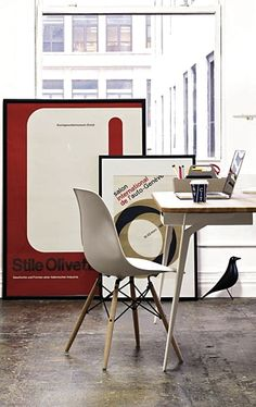 Via DWR   Eames Dsw and House Bird   Stile Olivetti Poster