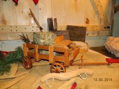 Vintage Western Ranch Farm Folk Art Wooden Wagon by dakotagypsy