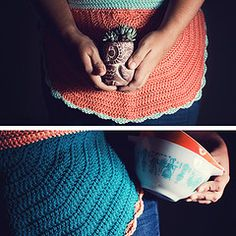 half circle crochet apron, FREE