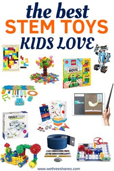Give your kids the gift of learning with these top STEM gifts both girls and boys will love! Kids will grow important Science, Technology, Engineering, and Math skills while they have fun playing.