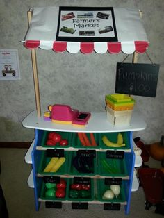 15+ ways to transform a Melissa & Doug Grocery Store for Pretend Play *This Farmer's Market idea for kids is so fun!