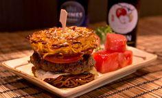 One Tea Lounge ramen burger