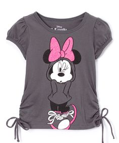 Look at this Fog Gray Minnie in Hoodie Tee - Girls on #zulily today!