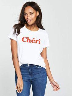 Very Cheri Slogan T-Shirt