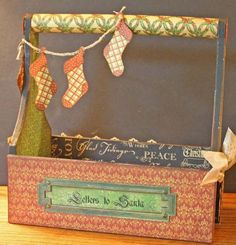Graphic 45 Christmas Emporium Christmas box by Nancy Wethington