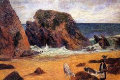 Cows on the Seashore - Paul Gauguin