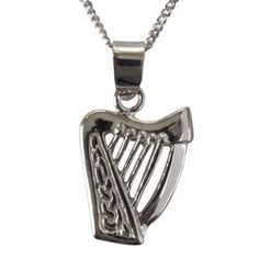 Sterling Silver Harp Pendant, $33.95 | The Catholic Company