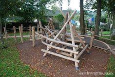 A Zigurseat log climbing pyramid...