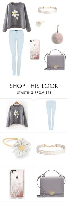 """He Loves Me, He Loves Me Not"" by funkaroo14 ❤ liked on Polyvore featuring 7 For All Mankind, Alex Monroe, Humble Chic, Casetify, Smythson and Adrienne Landau"