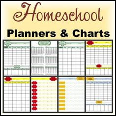 FREE PRINTABLES Teaching Homeschool Planning Pages in Color or Black and White Options 2 Styles of Student Weekly Scheduling Pages, Student Checklist, and Chore Chart Checklist in Color and Black and White Options