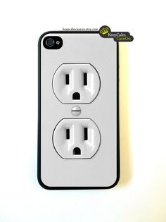 iPhone 4 Case, Electric Outlet iPhone Case Hard Fitted Case For iphone 4  iphone 4S.