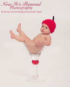 Crochet Baby Hat Cocktail Cherry Photo Prop